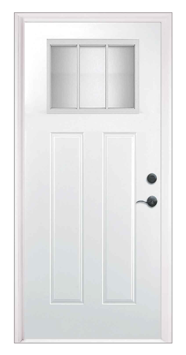 Craftsman Clear Lite Entry Door Style 3