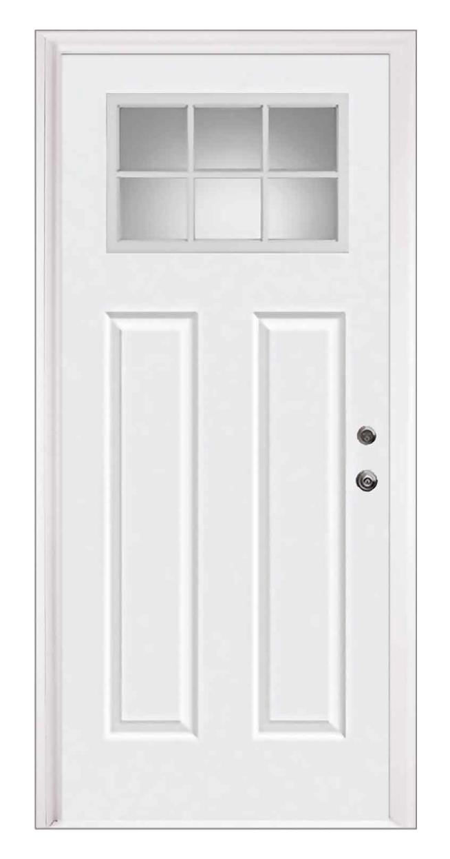 Craftsman Entry Door With Clear Lite Window