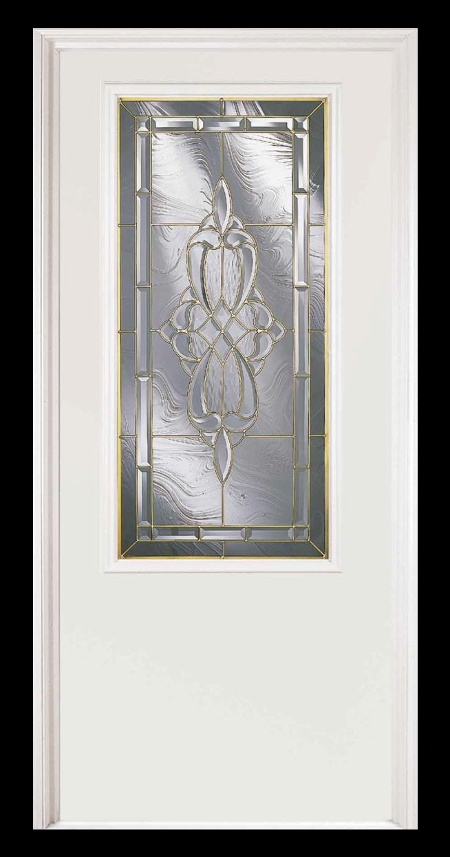 St. Jane Steel Entry Door with three-quarters length window