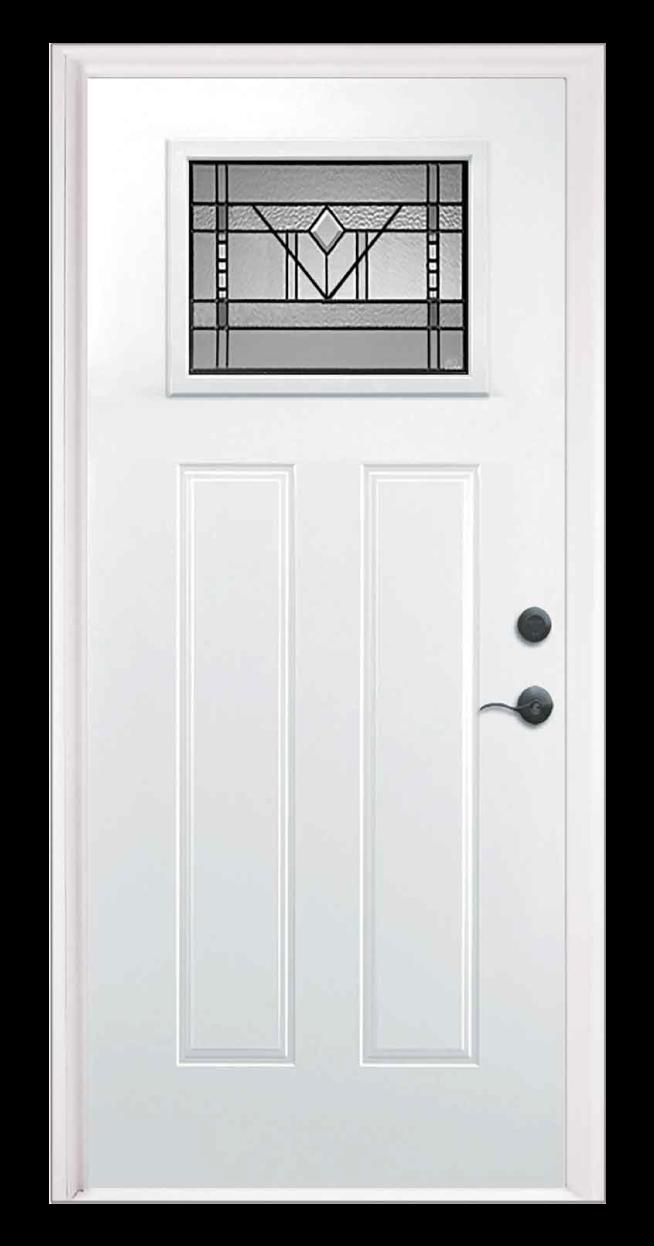 Riverwood Style Craftsman Steel Entry Door