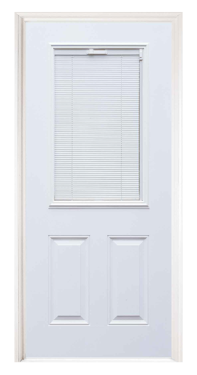 Classic Series Steel Entry Door With Closed Mini Blinds