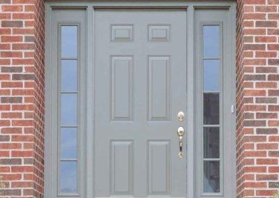 External view of classic entry door.