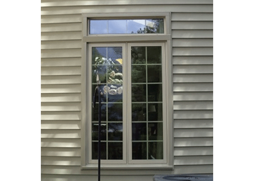 Oxford Casement Window And Transom Combination With Beige Trim