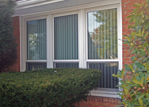 Oxford Double Hung Windows Brick Home Exterior